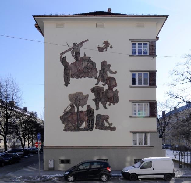 Apostelblöcke nach der Sanierung 2011  3. Bauabschnitt GEWOFG Architekturbüro http://www.hechenbichler.info/