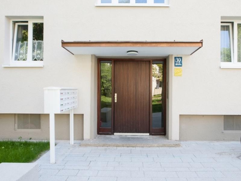 München Neuhausen, Bauabschnitt MAX II nach der Sanierung. GEWOFAG. Ausführung und Bauleitung Architekturbüro Balthasar Hechenbichler, München.